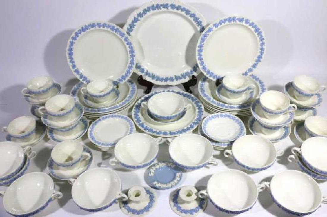 "ENGLISH ""EMBOSSED QUEENS WARE"" WEDGWOOD SERVICE"