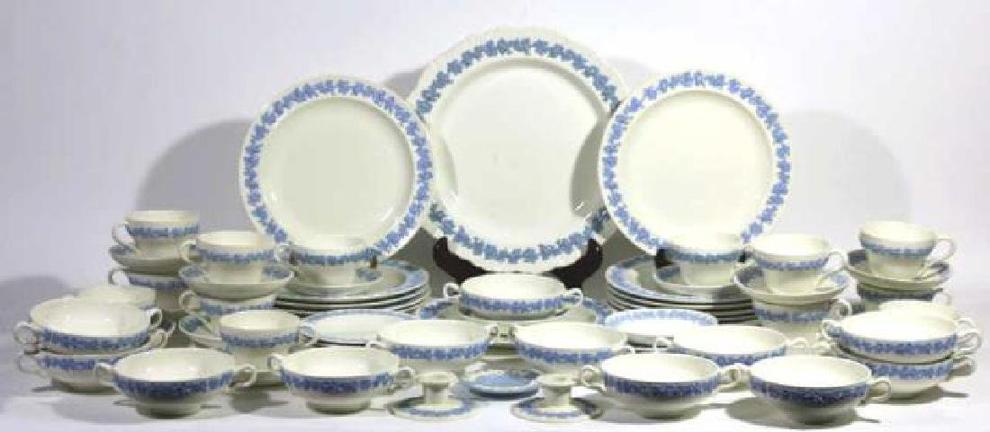"ENGLISH ""EMBOSSED QUEENS WARE"" WEDGWOOD SERVICE - 2"