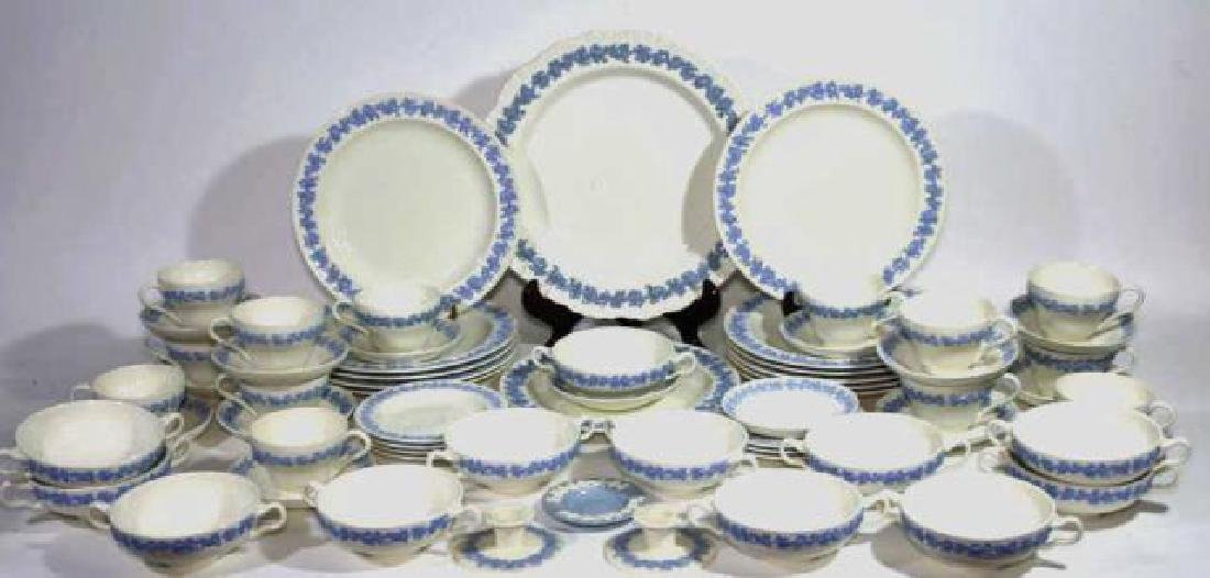 "ENGLISH ""EMBOSSED QUEENS WARE"" WEDGWOOD SERVICE - 3"