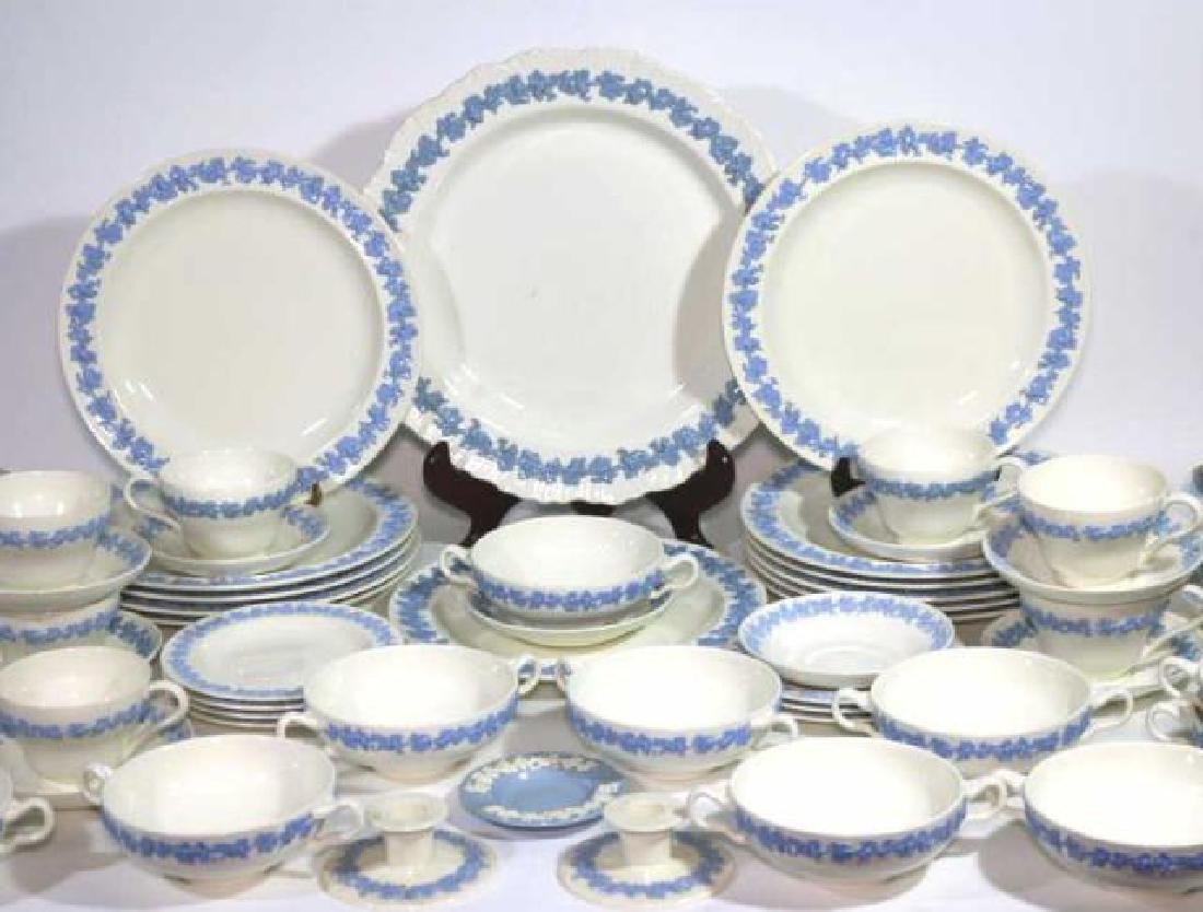 "ENGLISH ""EMBOSSED QUEENS WARE"" WEDGWOOD SERVICE - 4"