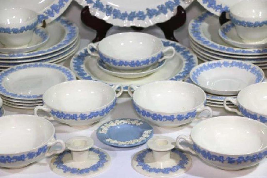 "ENGLISH ""EMBOSSED QUEENS WARE"" WEDGWOOD SERVICE - 5"