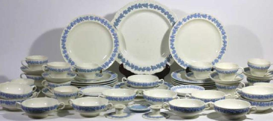"ENGLISH ""EMBOSSED QUEENS WARE"" WEDGWOOD SERVICE - 8"