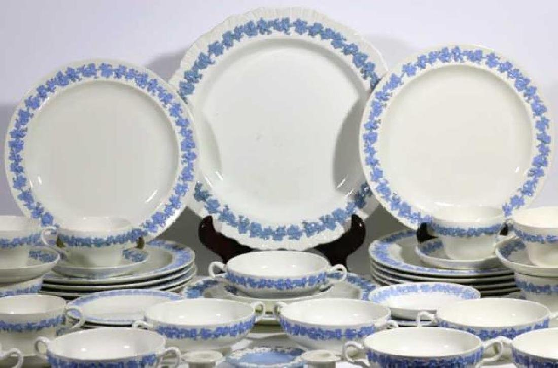 "ENGLISH ""EMBOSSED QUEENS WARE"" WEDGWOOD SERVICE - 9"