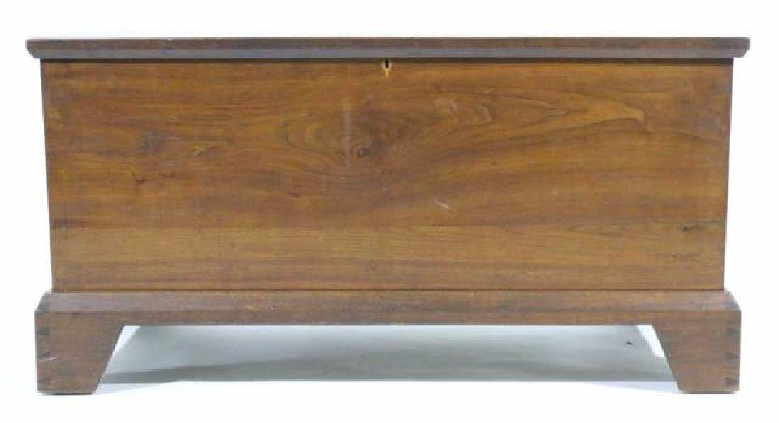 AMERICAN SOUTHERN ANTIQUE DOVETAILED BLANKET CHEST - 9