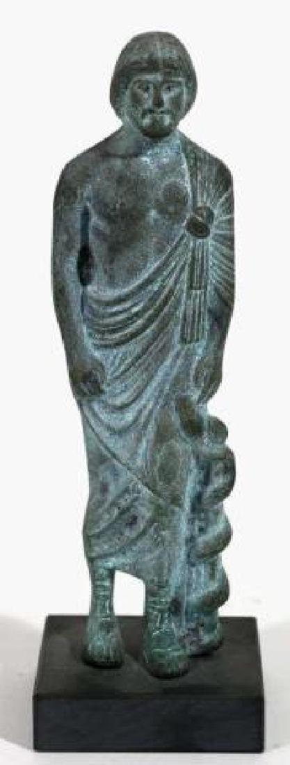CLASSICAL GREEK MUSEUM BRONZE MALE SCULPTURE