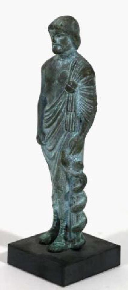 CLASSICAL GREEK MUSEUM BRONZE MALE SCULPTURE - 3