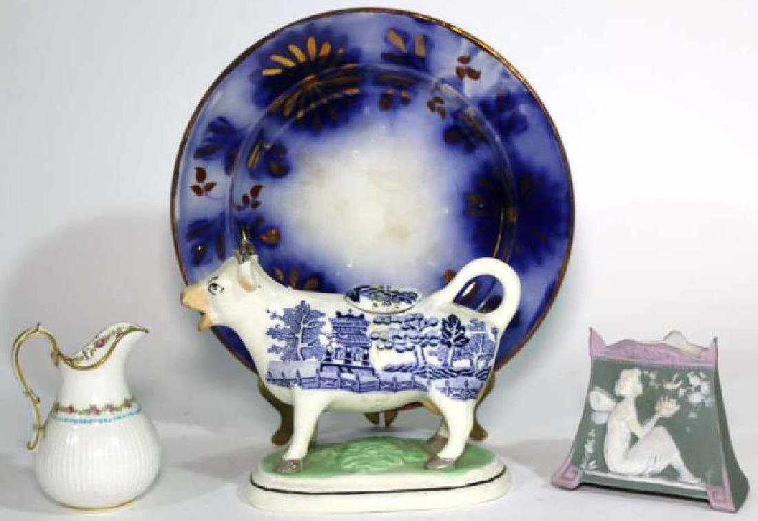 ANTIQUE PORCELAIN GROUPING