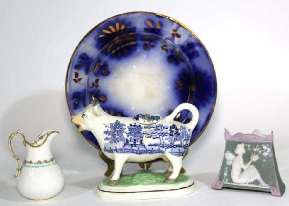 ANTIQUE PORCELAIN GROUPING - 7