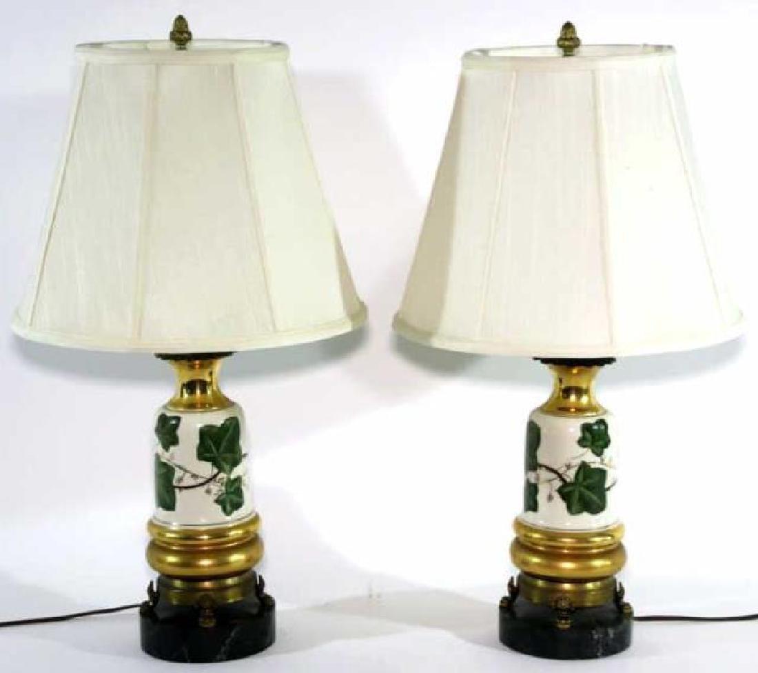 VINTAGE HAND PAINTED PORCELAIN LAMPS