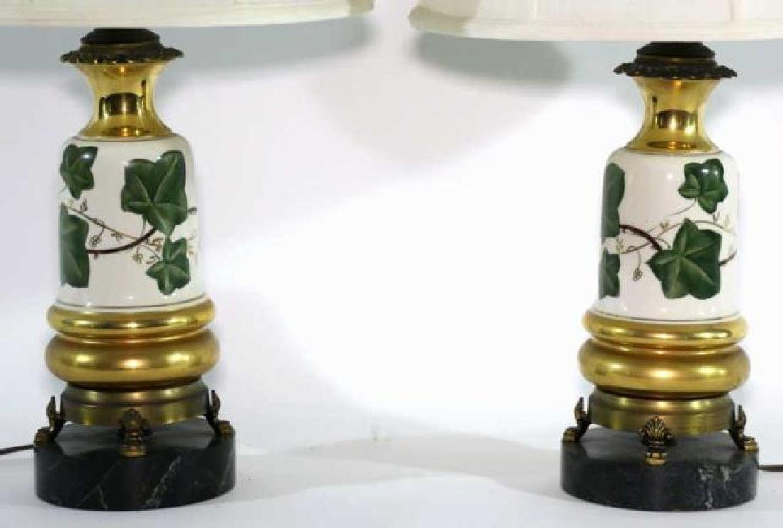 VINTAGE HAND PAINTED PORCELAIN LAMPS - 2