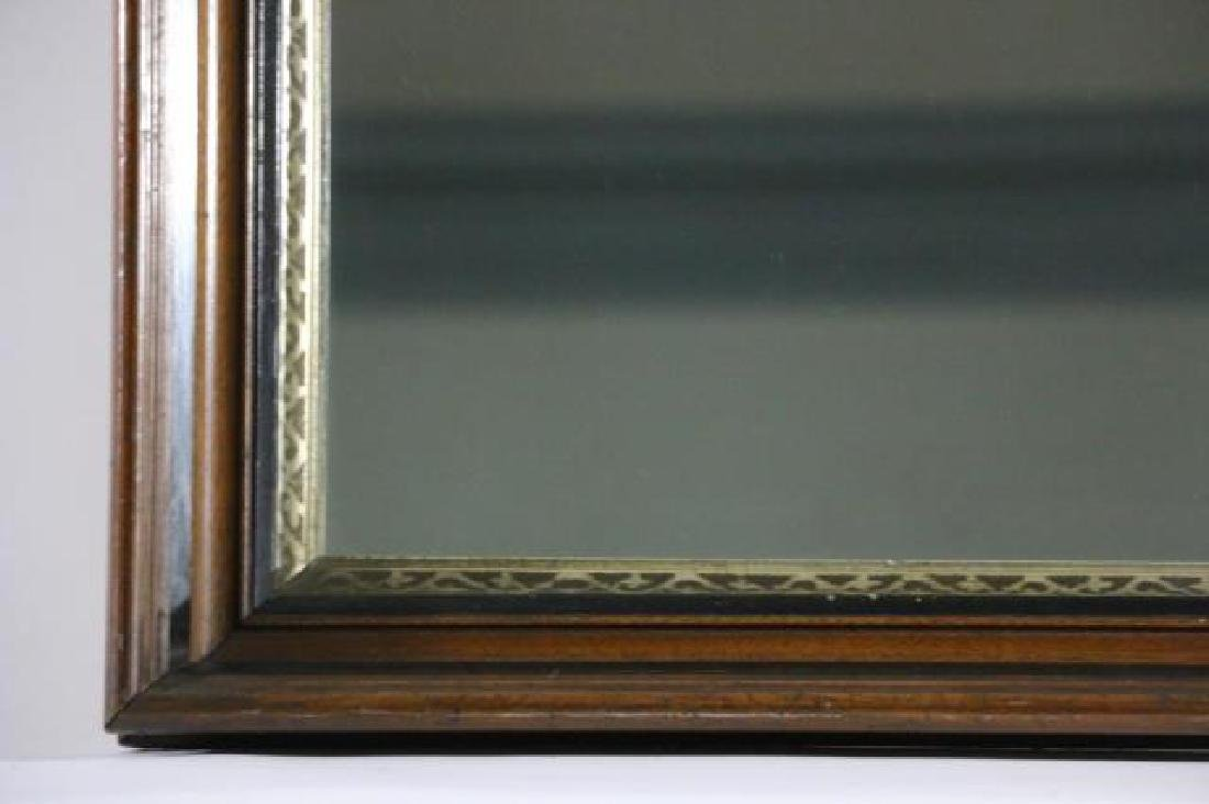 MAHOGANY & PARCEL GILT ANTIQUE MIRROR - 2
