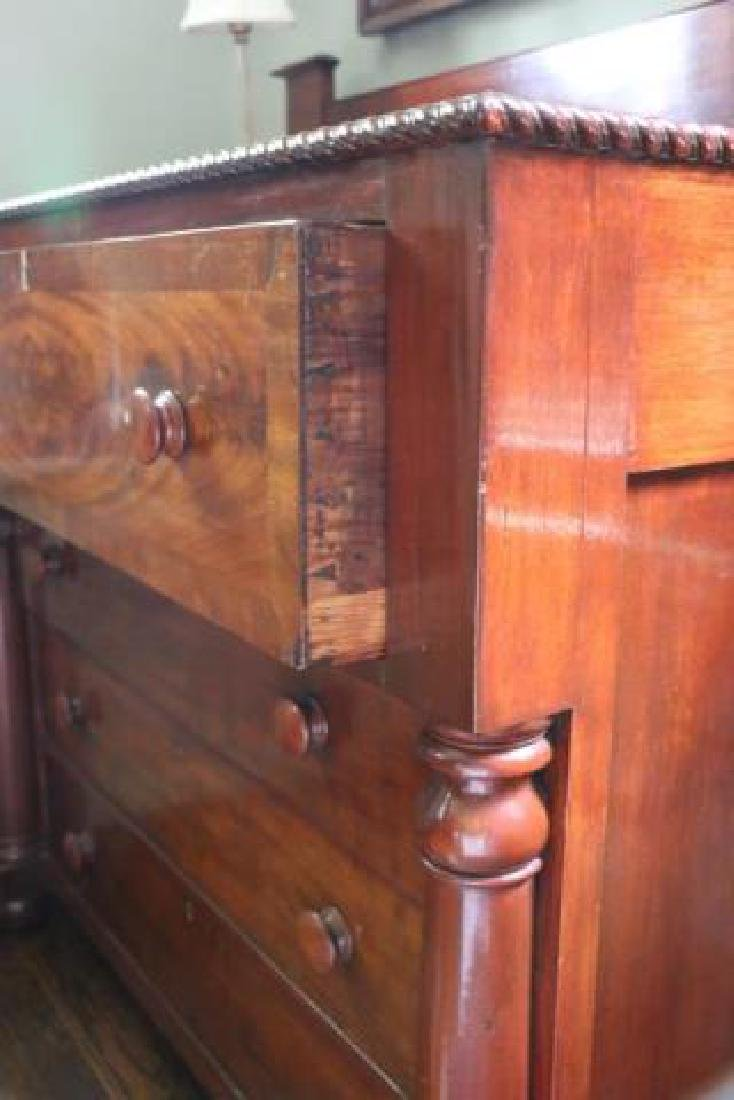 AMERICAN FEDERAL ANTIQUE MAHOGANY CHEST OF DRAWERS - 2