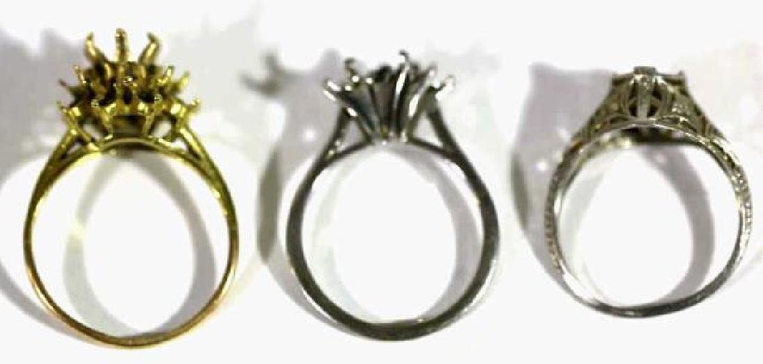 14KYG & 10KYG THREE LADIES COCKTAIL RING MOUNTS - 2