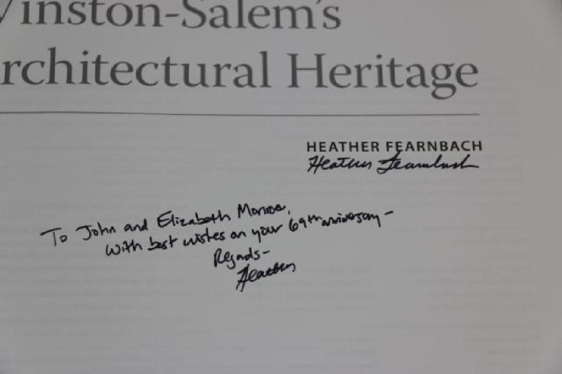 AUTOGRAPHED WINSTON SALEM ARCHITECTURAL BOOK - 6