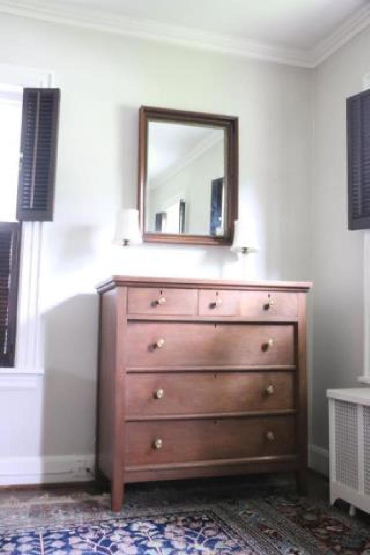 AMERCIAN SOUTHERN WALNUT ANTIQUE CHEST OF DRAWERS