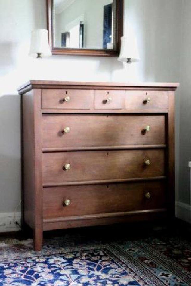 AMERCIAN SOUTHERN WALNUT ANTIQUE CHEST OF DRAWERS - 2