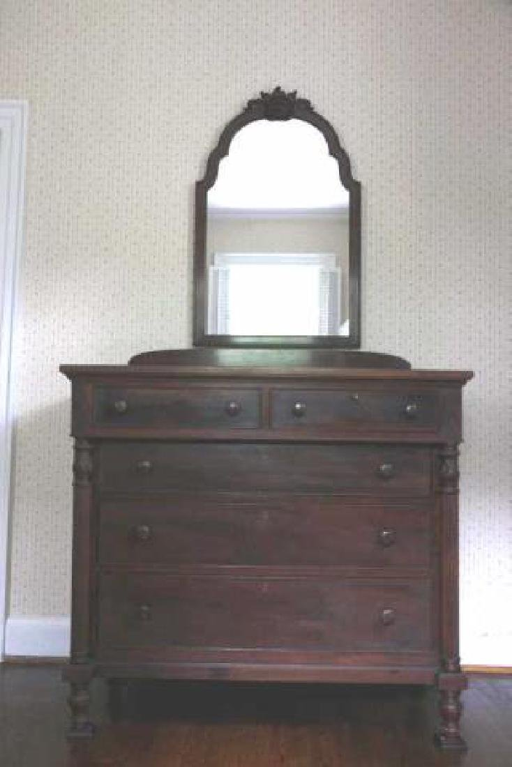 POTTHAST BROS. ANTIQUE MAHOGANY CHEST OF DRAWERS - 3
