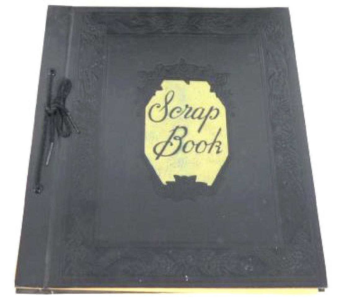 TWO ANTIQUE FAMILY SCRAP BOOKS - 2