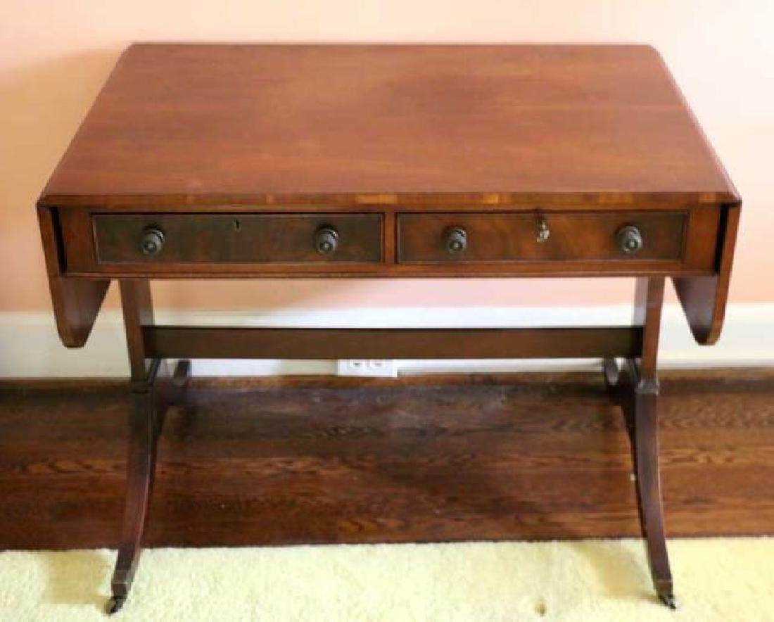 ENGLISH REGENCY ANTIQUE MAHOGANY SOFA TABLE