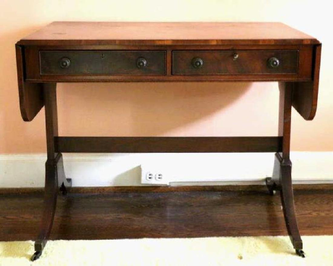ENGLISH REGENCY ANTIQUE MAHOGANY SOFA TABLE - 2