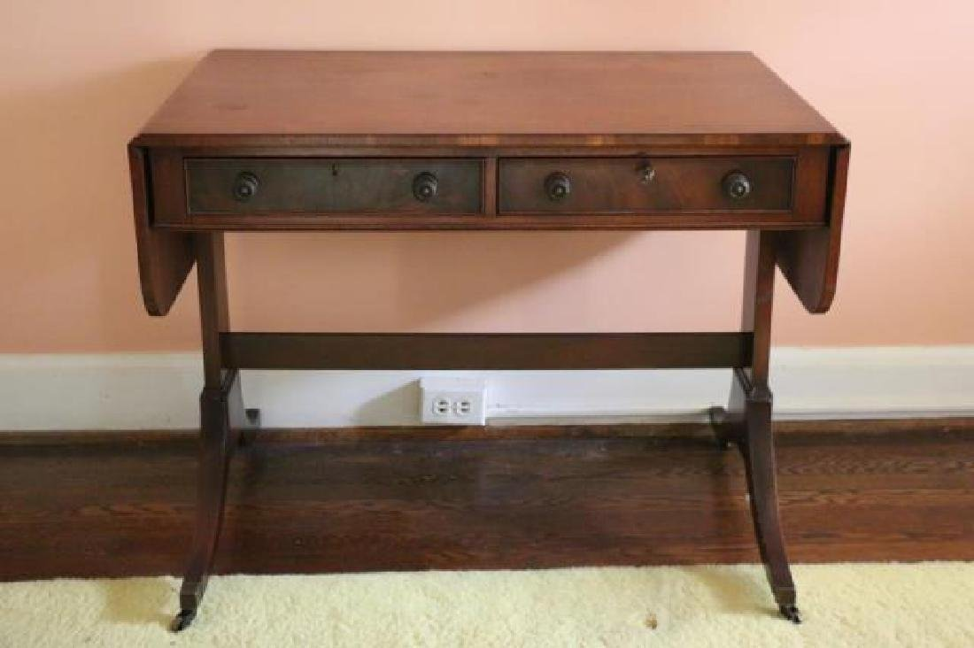 ENGLISH REGENCY ANTIQUE MAHOGANY SOFA TABLE - 4