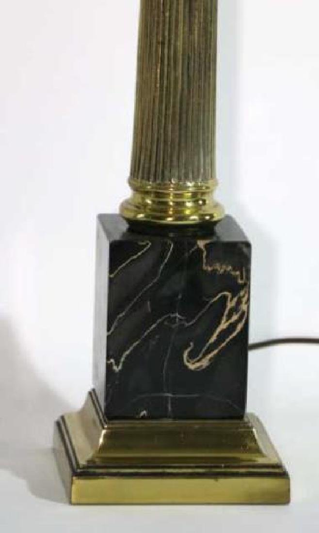 CARRERA MARBLE BASED CLASSICAL COLUMN LAMPS - 4