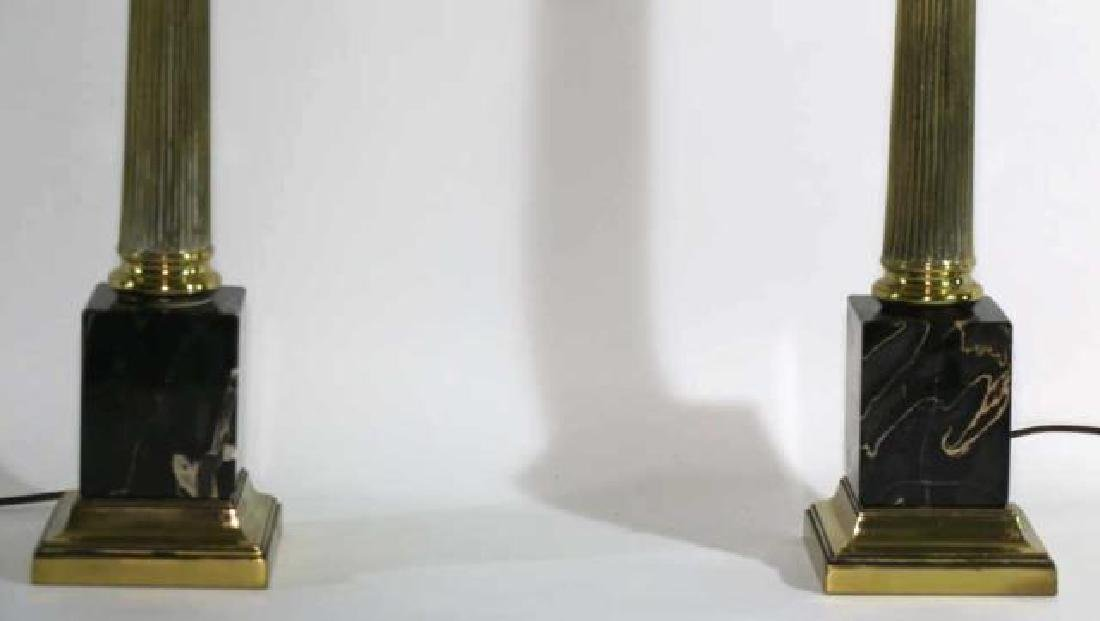 CARRERA MARBLE BASED CLASSICAL COLUMN LAMPS - 6