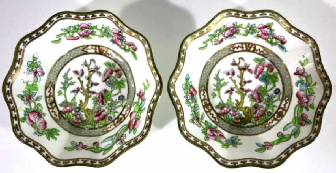 COALPORT ENGLISH CHINESE FLORAL SCALLOPED BOWLS