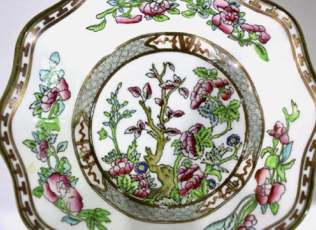 COALPORT ENGLISH CHINESE FLORAL SCALLOPED BOWLS - 2