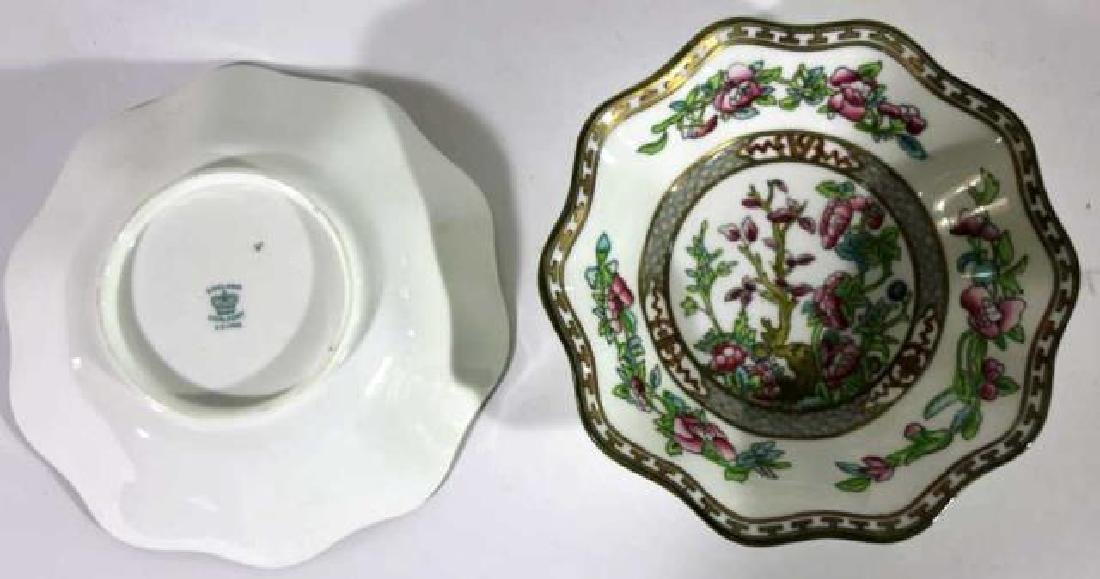 COALPORT ENGLISH CHINESE FLORAL SCALLOPED BOWLS - 3