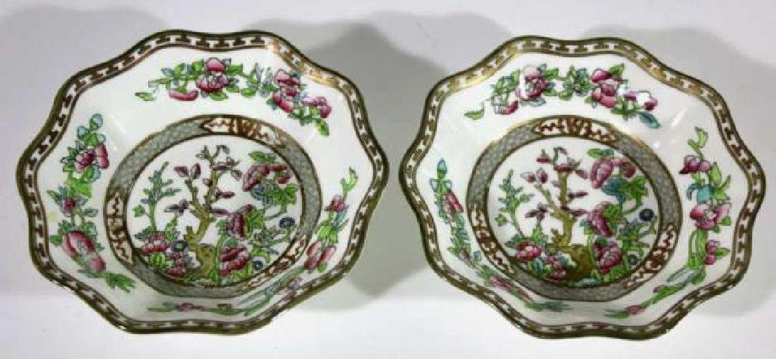 COALPORT ENGLISH CHINESE FLORAL SCALLOPED BOWLS - 5