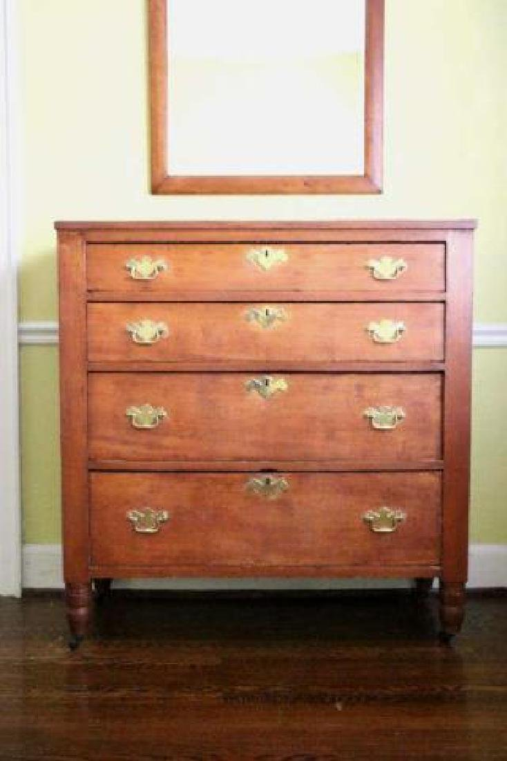 AMERICAN SOUTHERN KENTUCKY CHERRY CHEST OF DRAWERS - 2