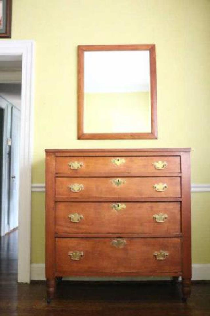 AMERICAN SOUTHERN KENTUCKY CHERRY CHEST OF DRAWERS - 5