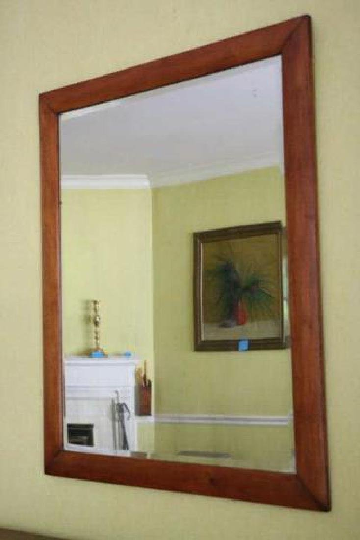 AMERICAN SOUTHERN  ANTIQUE BEVELED MIRROR - 2