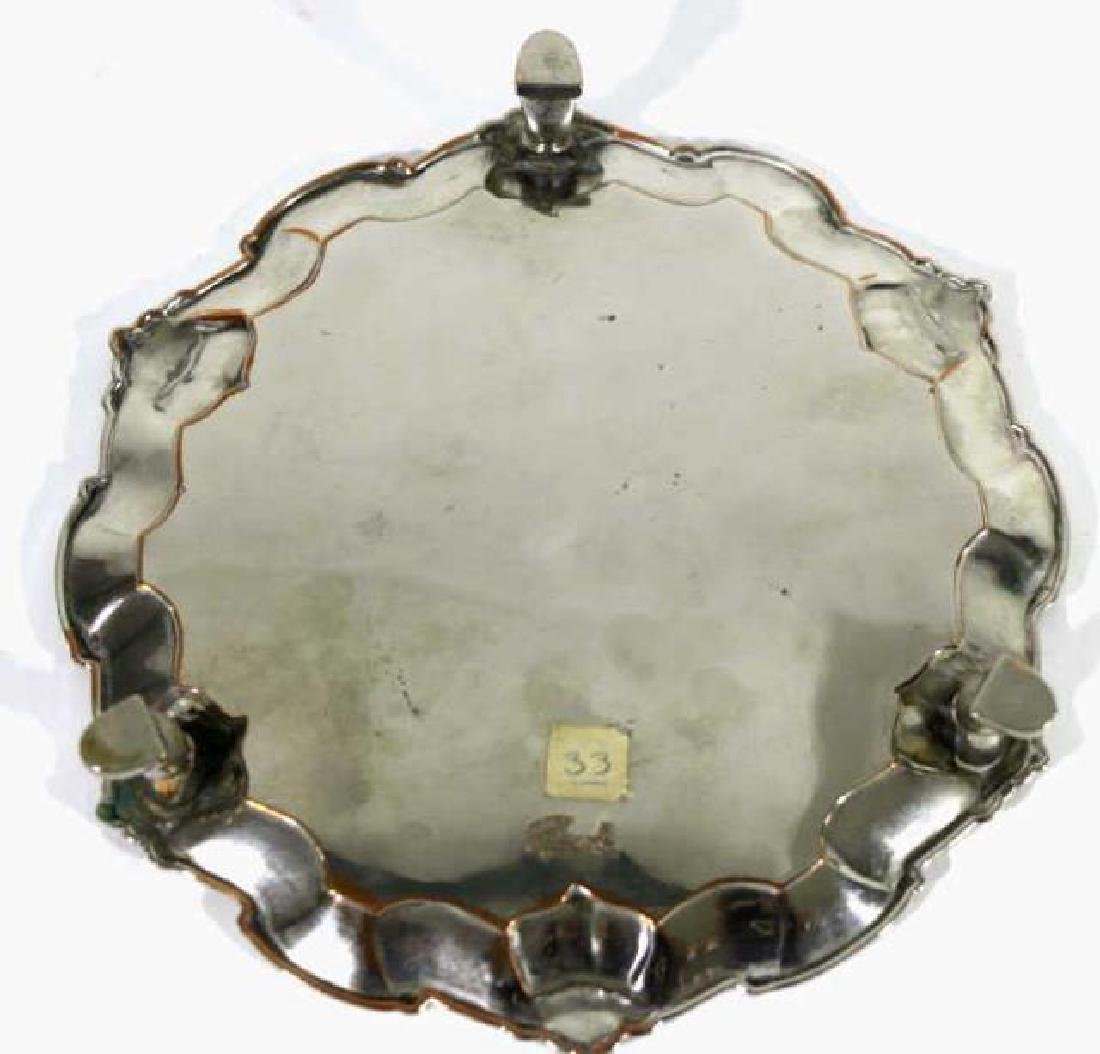 RAIMOND SHEFFIELD ROSED FOOTED SILVER TRAY - 4