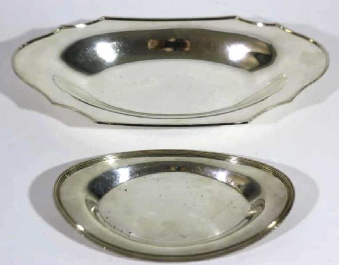 FINE SILVER BREAD PLATE GROUPING