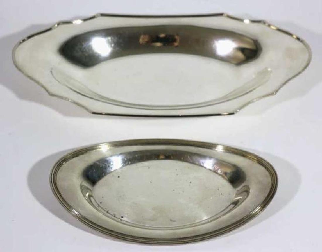FINE SILVER BREAD PLATE GROUPING - 7