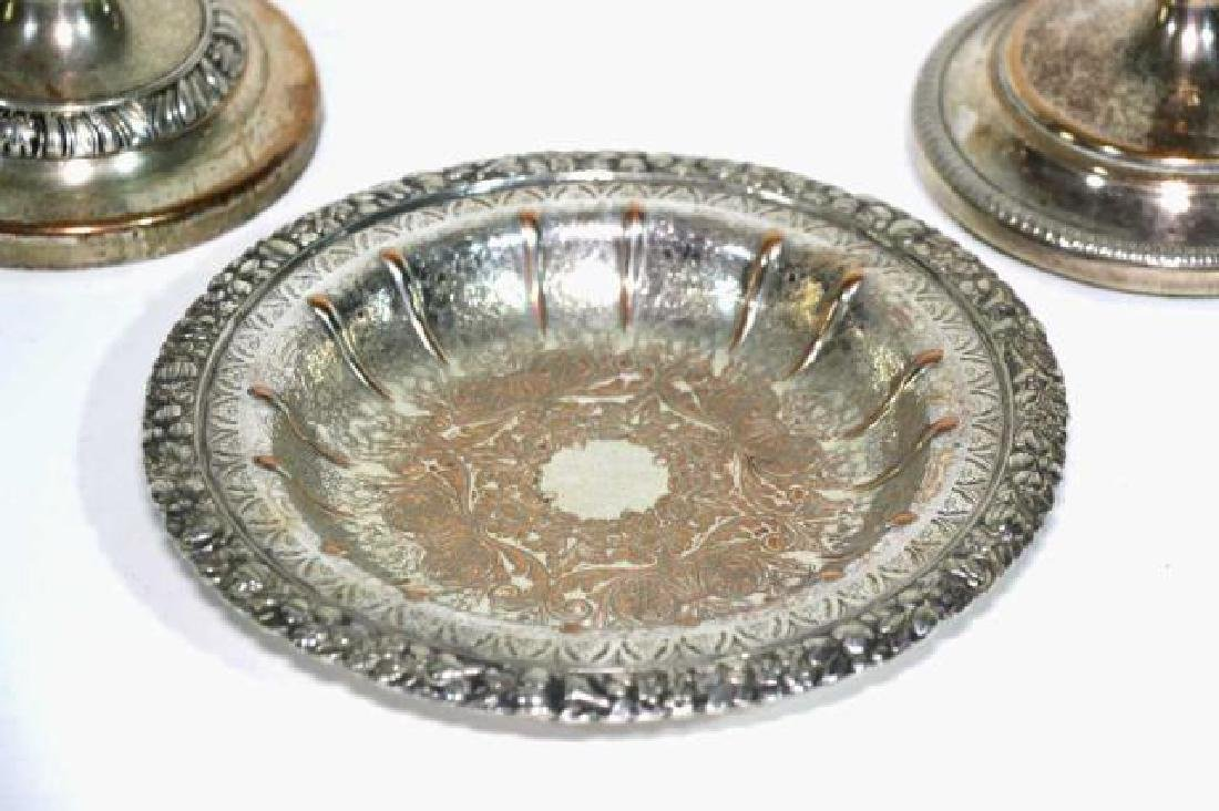 ENGLISH SHEFFIELD ANTIQUE ROSED SILVER GROUPING - 4