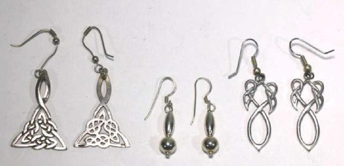 STERLING SILVER EARRING GROUPING