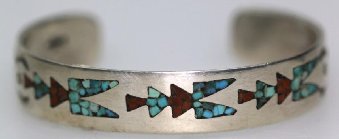 GENE GIBSON INLAID STERLING SILVER BANGLE BRACELET