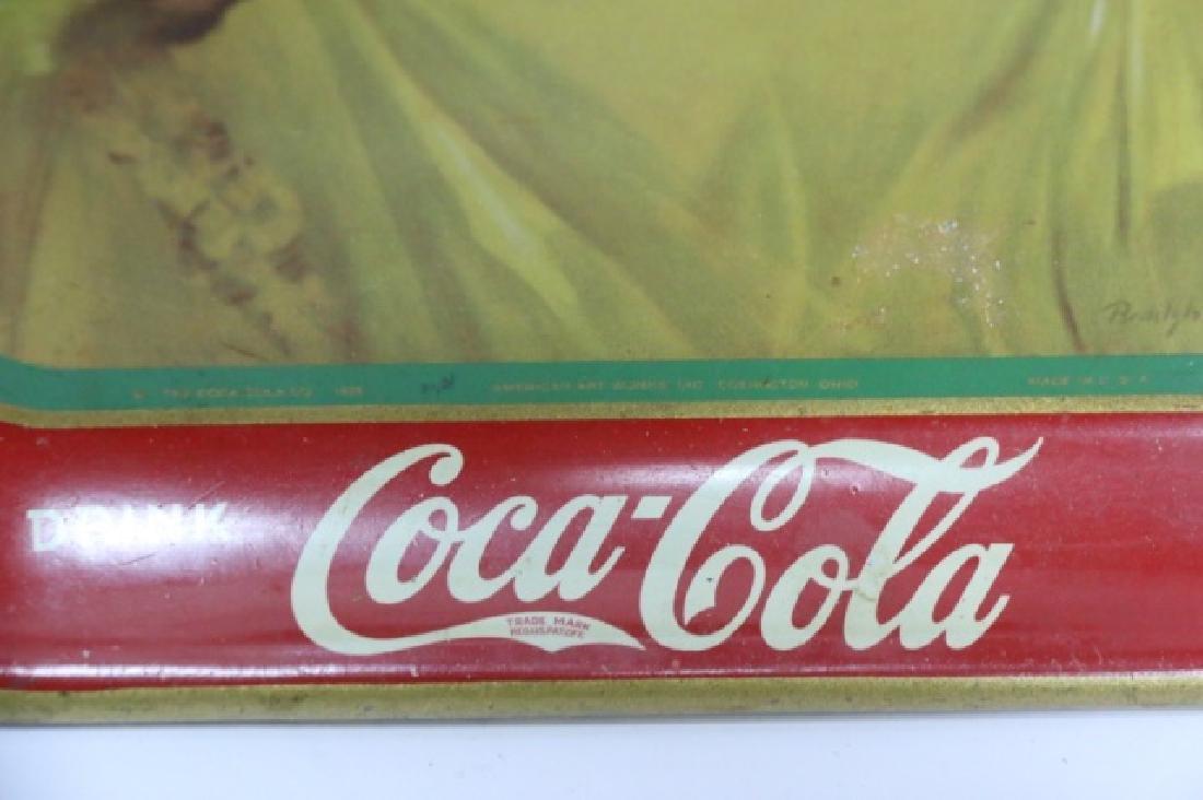 COCA-COLA VINTAGE TOLE TRAY - 4