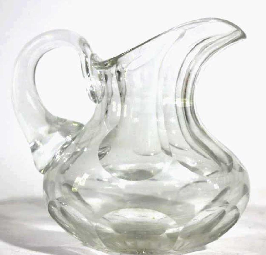 AMERICAN ANTIQUE CUT GLASS PITCHER - 3