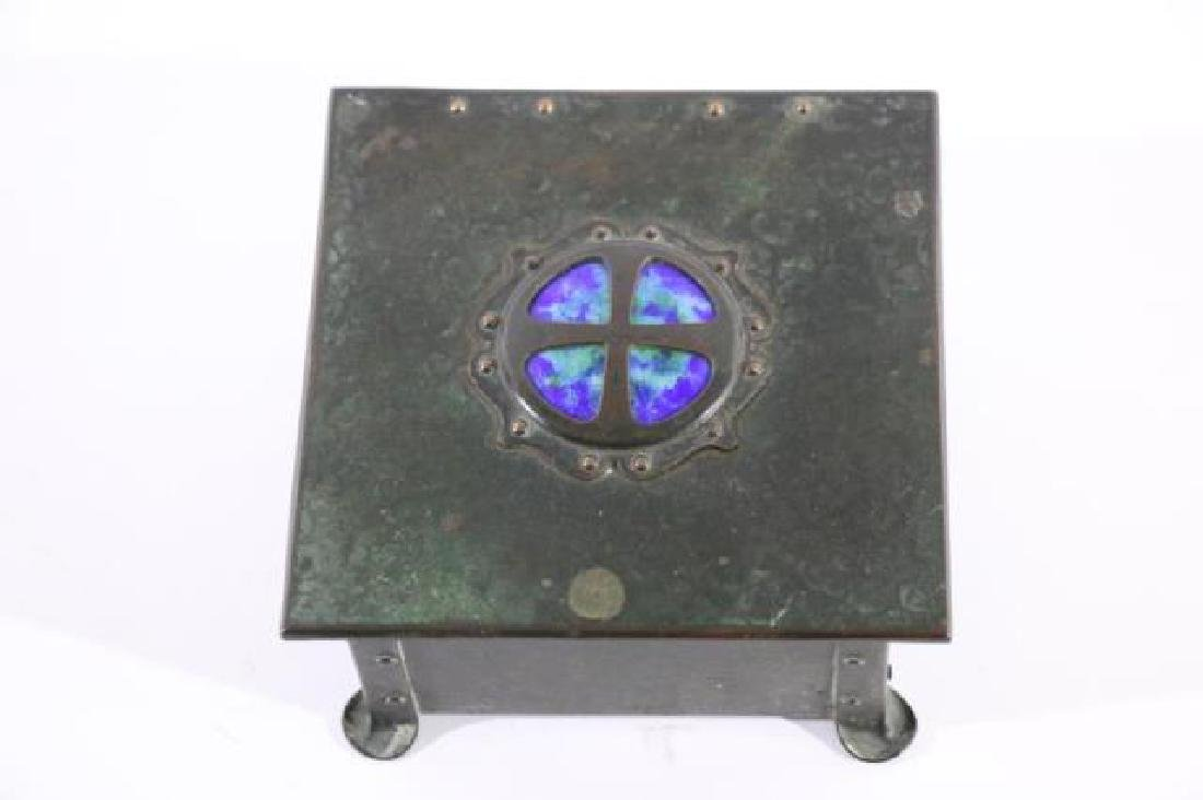 BRONZE INLAID ARTS & CRAFTS DRESSER BOX