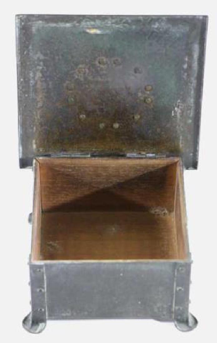 BRONZE INLAID ARTS & CRAFTS DRESSER BOX - 5