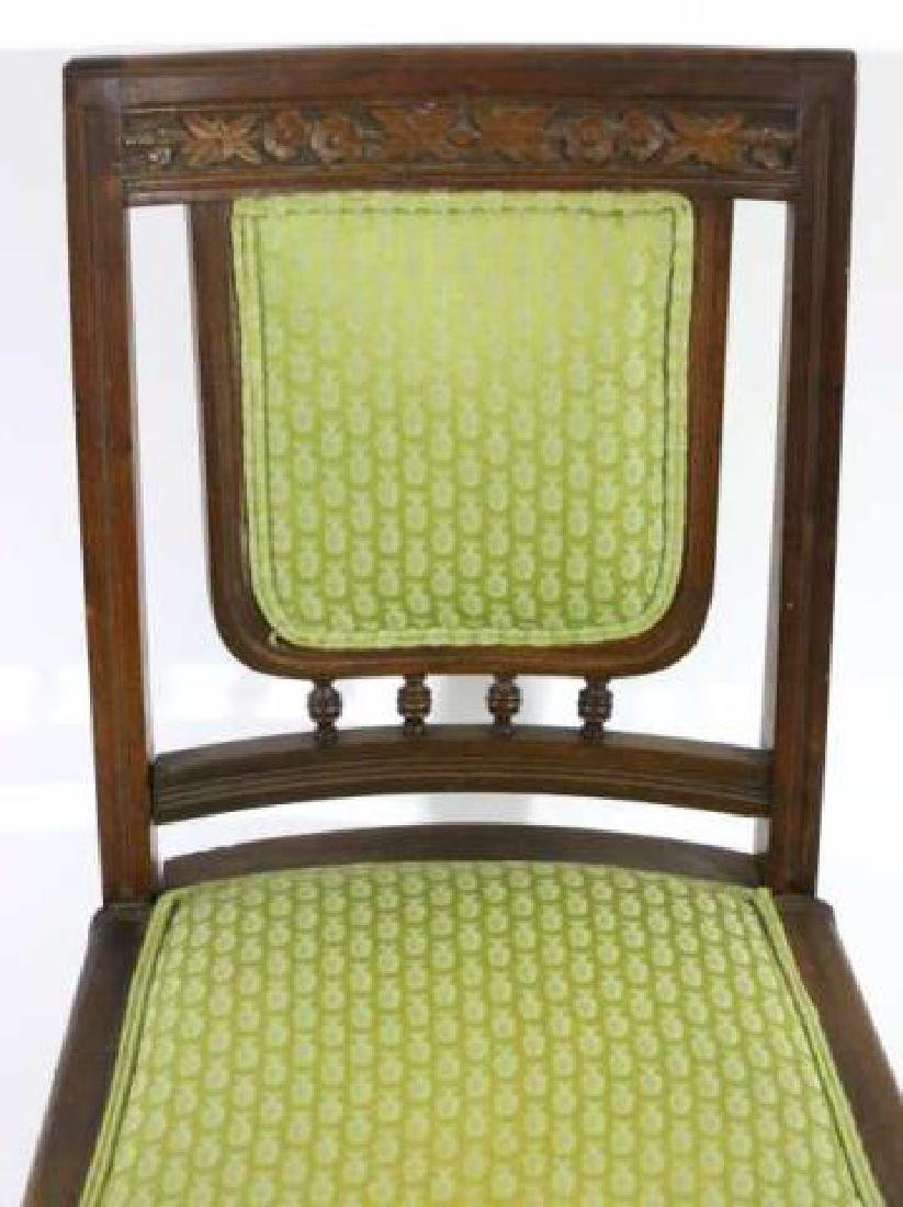 AMERCIAN ANTIQUE HAND CARVED OAK SIDE CHAIR - 2