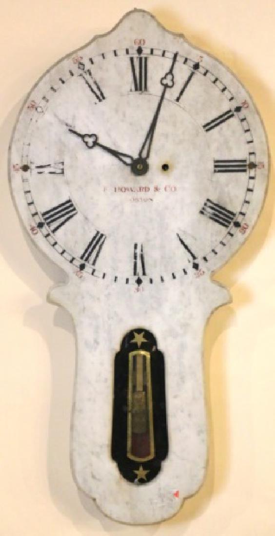 E. HOWARD & COMPANY BOSTON MARBLE HANGING CLOCK