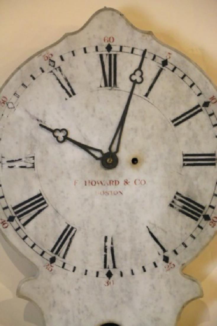 E. HOWARD & COMPANY BOSTON MARBLE HANGING CLOCK - 2