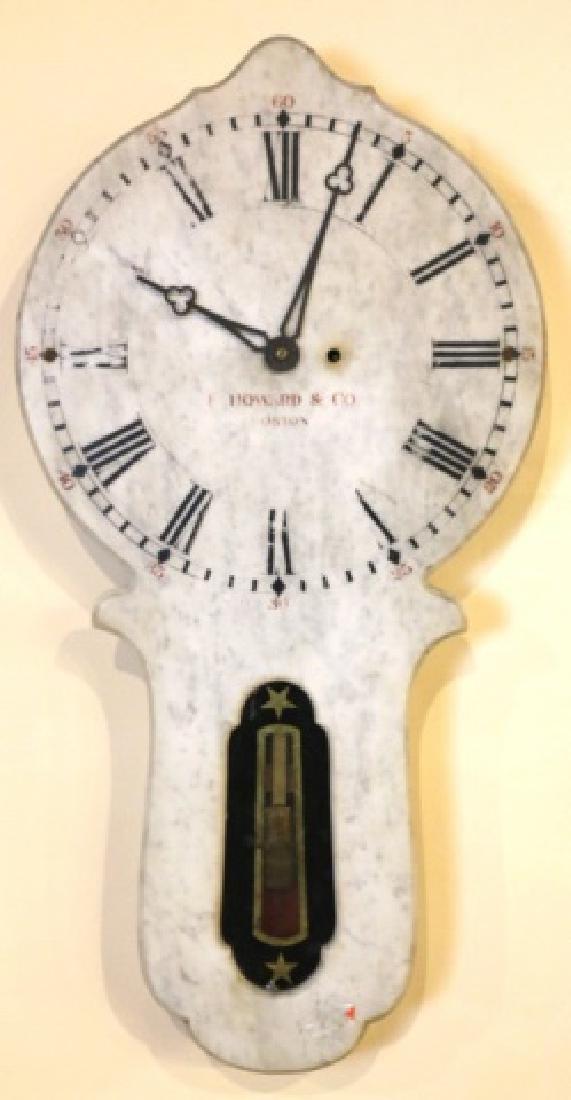 E. HOWARD & COMPANY BOSTON MARBLE HANGING CLOCK - 5