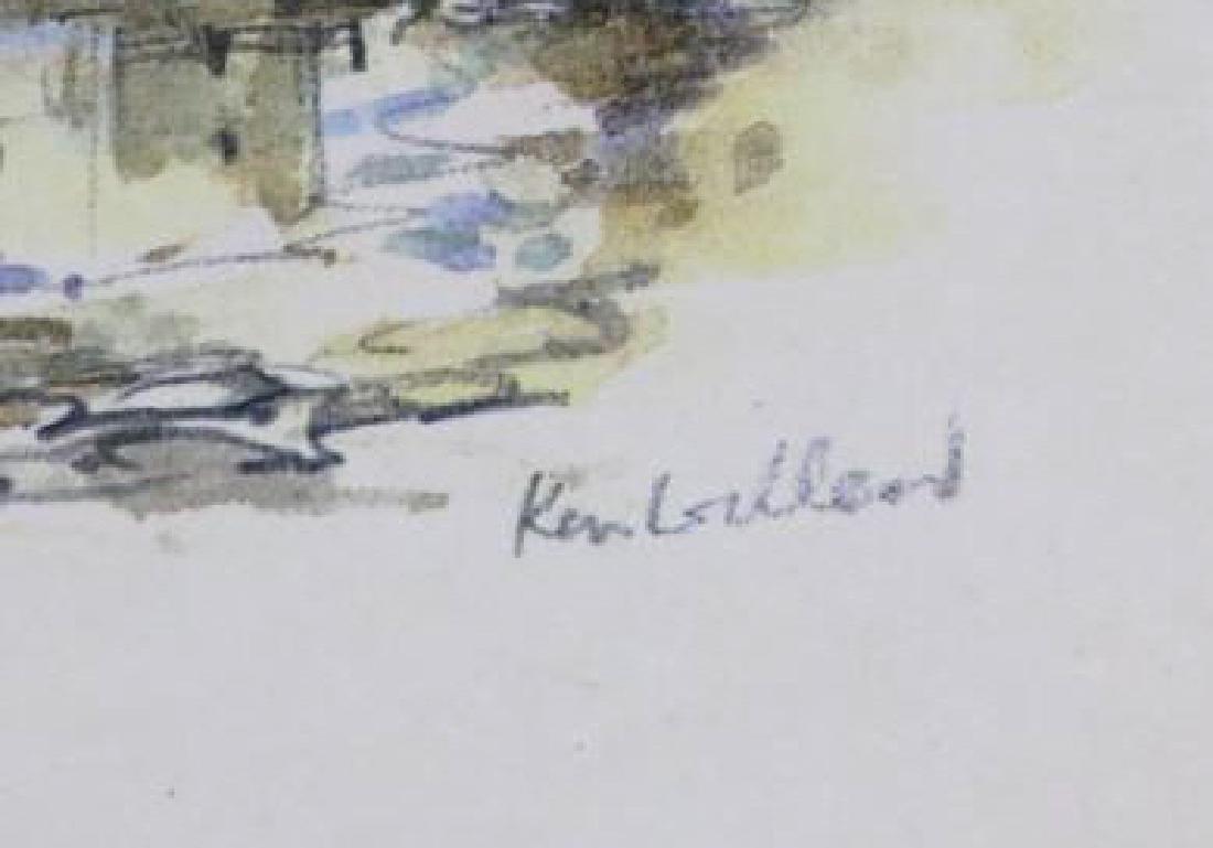 "KEN LOCKHEAD ""FOULIS FERRY"" SCOTTISH WATERCOLOR - 4"