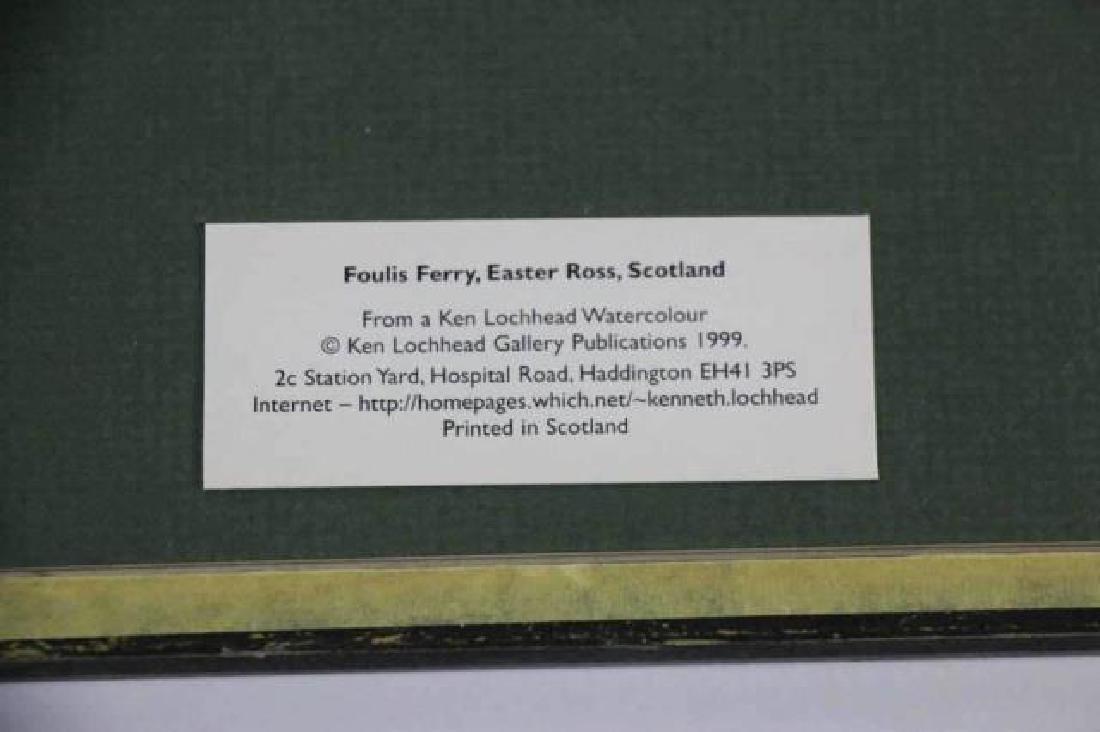 "KEN LOCKHEAD ""FOULIS FERRY"" SCOTTISH WATERCOLOR - 6"